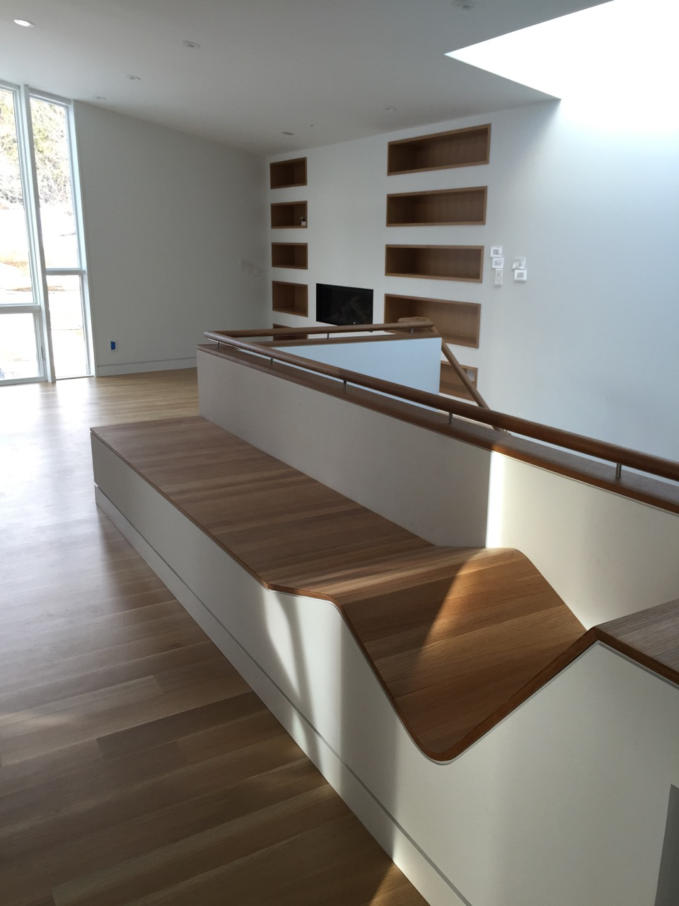 LEVITT ARCHITECTS » Upstairs bench and bookcase